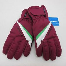 Ziener Ladies Ski Gloves Water Proof TOSIMA 7.0 M Raspberry White AquaShield Lad