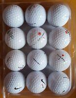 12er Set Golfbälle / Lakeball / Nike / Titleist / Maxfli / Callaway