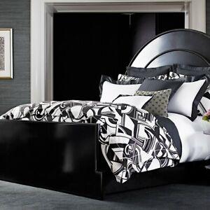 2 Ralph Lauren Ellington Deco Standard Shams Black White $260