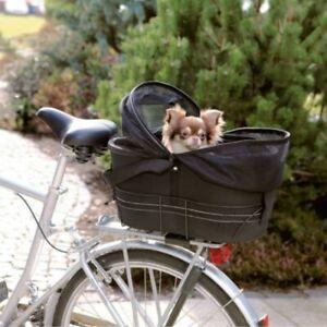 Dog Bike Basket Rear Mounted Bag Removable Safe Secure Stable Small Net Cover
