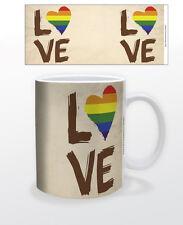 LOVE IS LOVE 11 OZ COFFEE MUG TEA CUP EQUALITY HOMOSEXUAL GENDERLESS ACTIVIST!!!