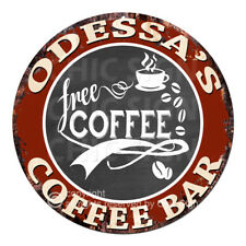 CFCB-0767 ODESSA'S COFFEE BAR Sign Mother's Day Housewarming Christmas Gift