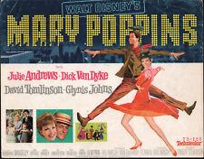 MARY POPPINS original 1964 DISNEY movie poster JULIE ANDREWS/DICK VAN DYKE