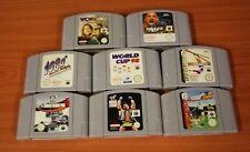 lot Nintendo 64 8 jeux loose  sport