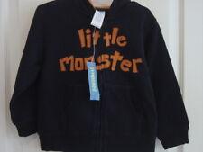"Gymboree Halloween "" Little Monster "" Hoodie Sweatshirt Boy Size 2T - 3T 2 - 3"