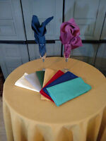 "Tablecloth Cotton  72 "" Square or Round 10 COLOR CHOICE  Made in USA"