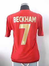 David BECKHAM #7 England Away Football Shirt Jersey 2006-2008 (M)
