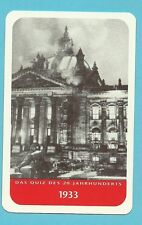 Reichstag fire Political Germany 1933 Cool Collector Card Europe