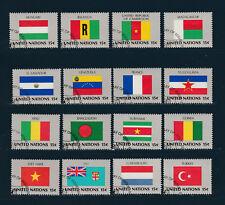 NATION UNIES  New York 1ère série des Drapeaux de 1980  oblitéré   bg