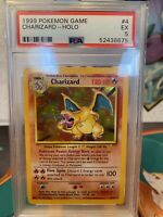 Charizard 4/102 - 1999 Pokemon Base Set Holo Rare - GRADED PSA 5 - Excellent