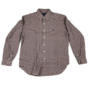 Ralph Lauren Classic Fit Button Down Long Sleeve Shirt Large Red & Black Plaid