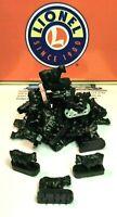 LIONEL COWS 3656-34 25EA. BLACK POSTWAR CATTLE COWS W/ MOTION FINGERS ON BOTTOM