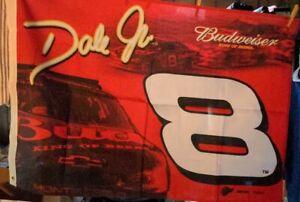 Approximately 44X28 Vintage Dale Earnhardt Jr Budweiser No 8 Nascar Flag banner