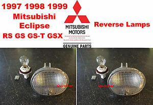 97 98 99 Mitsubishi Eclipse OEM 4G63 420A Reverse Lamps NEW w/ Sockets & Bulbs