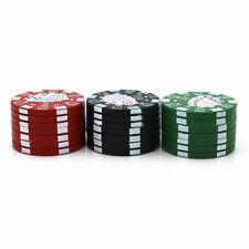 3 Layer Metal Tobacco Crusher Smoke Herbal Herb Grinder Hand Muller Casino Chips