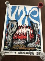 Pearl Jam Missoula Montana Poster Print  Bobbydrawsskullz RARE SOLD OUT