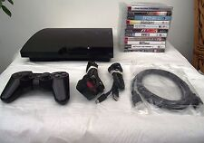 PS3 CONSOLE 320GB CHARCOAL BLACK + 11 TOP GAMES INCLUDING FREE 3 MONTH WARRANTY
