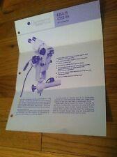 Vintage Gynemed DFV Colposcope Information sheet Gynecologist Medical ephemera