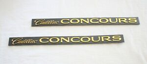 """1994-1996 CADILLAC DEVILLE  """"CONCOURS"""" SIDE DOOR NAMES SET GOLD PLATED - 3540650"""