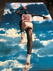 1992 Michael Jordan NIKE SKY DUNK POSTER NBA Basketball Chicago BULLS OLD 40x72