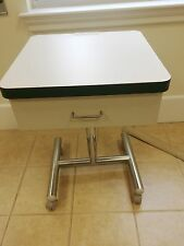 Mobile Dental Cart Ortho USED - Strip Around Top Is Forest Green