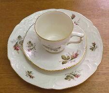 3 tlg. Kaffeegedeck # Rosenthal # Sanssouci # Moosrose Ramona Goldrand # Kaffee