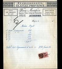"AVIGNON (84) GLACES , CREME & FROMAGES ""Henry MONTEFUSCO"" Période 1930"
