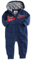 Baby Boy One Piece Navy Zip Romper Dad Team Hood Sport Tracksuit Sleepsuit 0-6 m