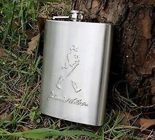 Johnnie Walker Design Embossed 8oz (230 ml) Stainless Steel Hip Flask
