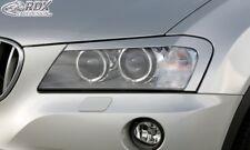 RDX Scheinwerferblenden schwarz matt für BMW X3 F25 2010-2014