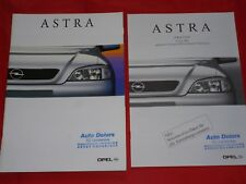 Opel Astra G base eco4 Comfort Elegance Sport folleto + lista de precios de 2001