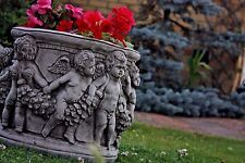 NEW Flower Pot,ROMAN PLANTER POT,CONCRETE STONE CHERUB ORNAMENTS,GARDEN PLANTERS