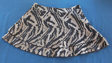 Bebe Gray & Black Animal print Tiered Nylon/poly short Skirt Misses Size Small