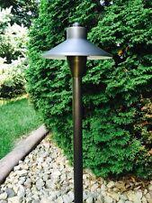 4 Pk LED Low Voltage Outdoor landscape lighting Solid Brass Vela Path light