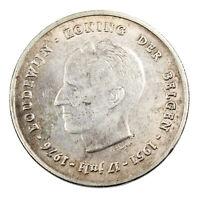 Pièce en Argent Belgique 250 francs Baudouin Ier 25e anniversaire Neerlandais