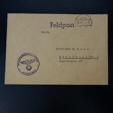 ALLEMAGNE LETTRE FELDPOST BRIEF 20.03.1942 -> STRASSBURG