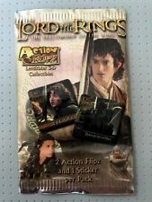 Lord of the Rings Action Flipz Pack 2 Action Flipz and 1 Sticker Per Pack 2002