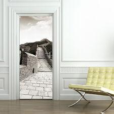 PT0173 Wall Stickers Adesivi Murali Adesivo Porta casa decoro muraglia 100X210cm