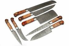 CUSTOM MADE DAMASCUS BLADE 7Pcs. CHEF/KITCHEN KNIVES SET + ROLL BAG