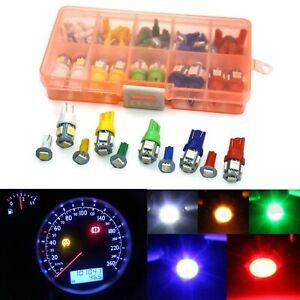 40Pcs Car Instrument Panel Light Bulb Clusters Dashboard LED Lamp 12V T10T5