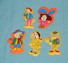 vintage Mr. Magoo & Cholly & Other Magnetic Puffy Stickers Lot (5 pc)