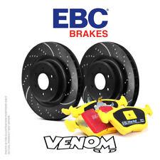 EBC Kit Dischi Freno Anteriore & Pastiglie per Abarth Grande Punto 1.4 Turbo 155 2008-2010