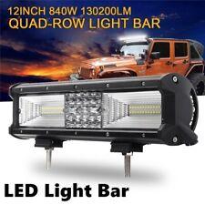 "12"" inch 840W LED Light Bar Spot Flood Bumper Driving Offroad 4X4 UTE Boat ATV"