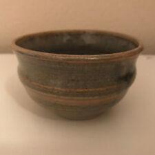 Miniature Pot Vase Tan earth tones Clay Ceramic signed stamped
