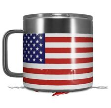 Skin Wrap for Yeti Coffee Mug USA American Flag 01 CUP NOT INCLUDED