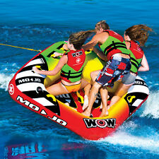 WOW Watersports Mojo 3 Rider Inflatable Water Deck Tube Boat Towable 16-1070