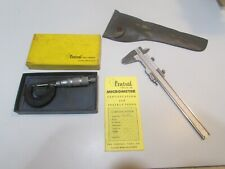 "LOT 231 CENTRAL TOOL 6"" VERNIER CALIPER + 0-1"" MICROMETER..... ...USED"