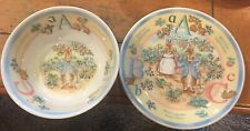 1997 Frederick Warne & Co PETER RABBIT Wedgwood Bowl & Plate Made In England