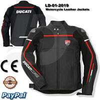Ducati Motorbike Motorcycle Rider  racing men new Leather  Jacket LD-01-2019