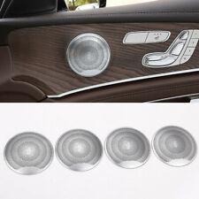 4pcs Car Door Speaker Cover Trim For Benz C E Class W205 W213 GLC200 2015-2018